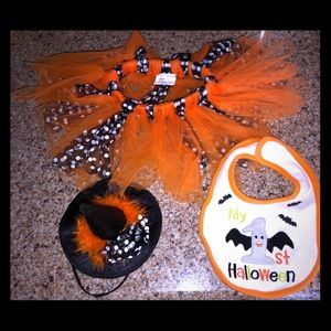 Baby girl Halloween tutu set